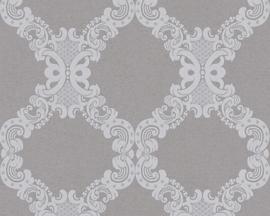 Grijs barok behang 36090-4