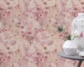 Rose Bloemen Behang Rasch 893410