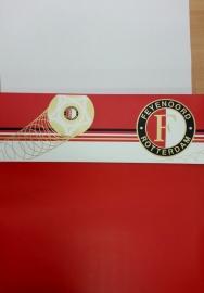 Feyenoord behangrand rood wit
