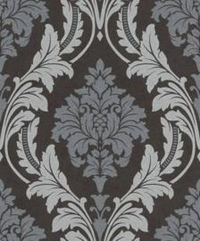 zwart zilver glitter barok behang 541663 Glam