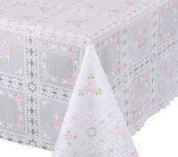 kant tafelzeil tafelkleed rose bloemetjes  ptx14