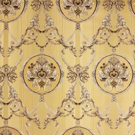 Hermitage behang ornamenten goud Metallic 33083-1