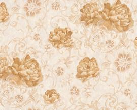 Glitter behang bloemen 95968-3