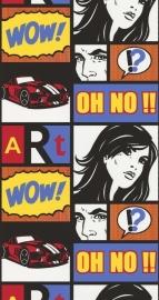 Noordwand Les Aventures 12100101 strip retro tieners stripboek behang