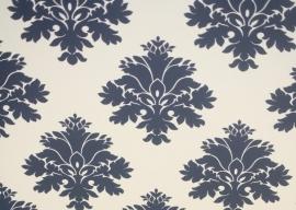 barok behang vinyl blauw 68515