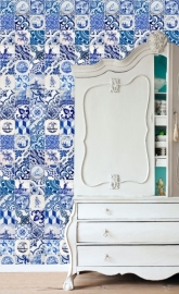 Esta Home Ginger Wallpaper XXL delft blue 158001