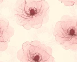 Roze bloemen behang 34274-3