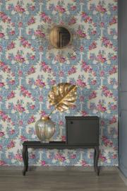 Bloemen behang blauw rose 34075-3