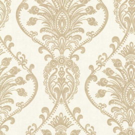 Behang Dutch Wallcoverings Avalon ornament creme/goud 21456