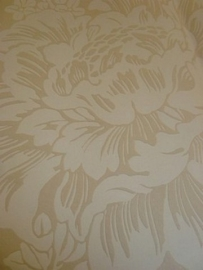 opruiming beige creme bloemen behang 112