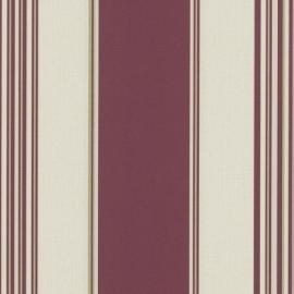 9699-06 rood beige modern streep behang