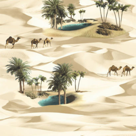 Sahara behang camelen palmboom A11601
