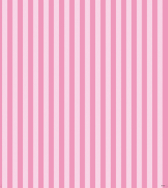 Minnie Mouse & Daisy pink stripe behang WPD 9747