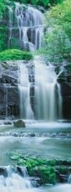2-1256 Komar Fotobehang Pura Kaunui Falls waterval grijs groen behang