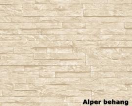 912138 beige natuursteen behang