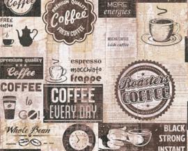 AS Creation Simply Decor Coffee behang 33480-3