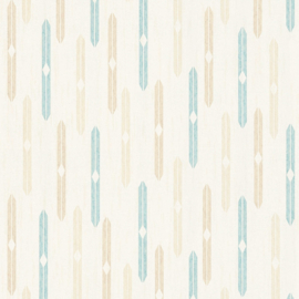 beige blauw retro behang as creation 35119-2