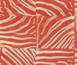 Rasch Popskin behang 498516 Zebra dierenprint