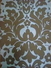 barok behang vinyl bruin creme 99