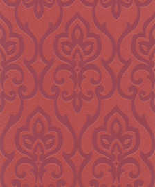 Glitter behang barok terra rood barbara becker 717037