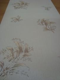 bloemen behang bruin creme glitter 131