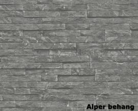 912114 grijs natuursteen behang