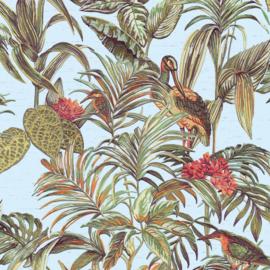 Vogel Behang tropical  Wallstitch De120014