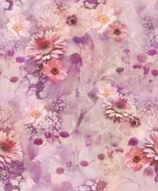 ROZE BLOEMEN BEHANG - Rasch Tiles and More 893403