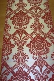 barok behang rood zilver vlies 7176-4