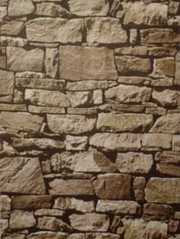 3d steen behang bruin xxx17