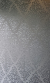 zilver wit barok behang 6837-0