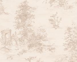 Behang Nature gebroken wit,  zilver AS Romantica 30429-1