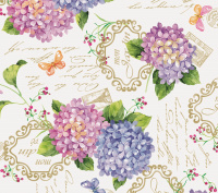 Hortensia bloemen tafelzeil 902901