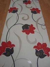 rood creme grijs vinyl glinster behang 104