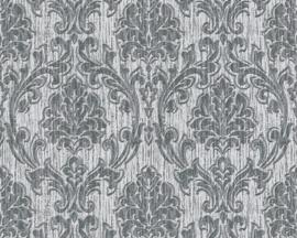Zilver Grijs Metalic Barok Behang Esprit 357023
