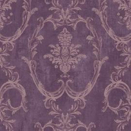 Paars barok behang L10306