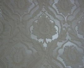 creme glim barok klassiek glitter vinyl behang 25