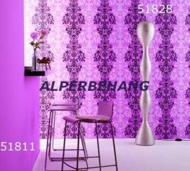 barok behang paars roze 305