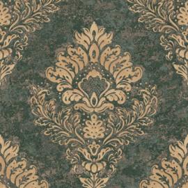 Barok behang groen metropolitan vintage 37901-1