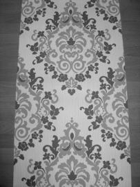 grijs vlies 3d barok behang xx456