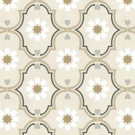Retro behang groen seventies 36297-1