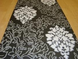 zwart grijs barok vinyl behang 07