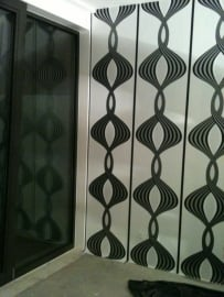 retro behang zwart wit zilver vlies  089
