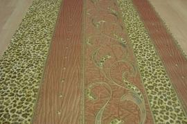 bruin goud luipaardprint vinyl dierenprint behang 13