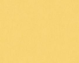 Geel uni behang 36315-3