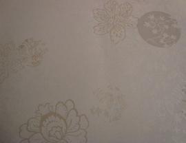 opruiming beige creme bloemen behang 131