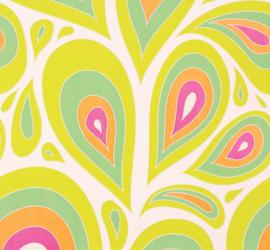 Retro Behang Nena Designer Marburg wit groen 57201