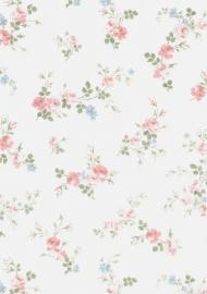 dollhouse 68817 blauw roze wit bloem stijlvol behang