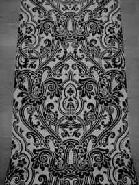 zwart zilver vlies barok behang 54