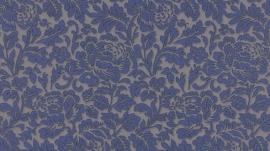 5784-44 klassiek hermitage bloemetjes behang 3D effect blauw vlies behang